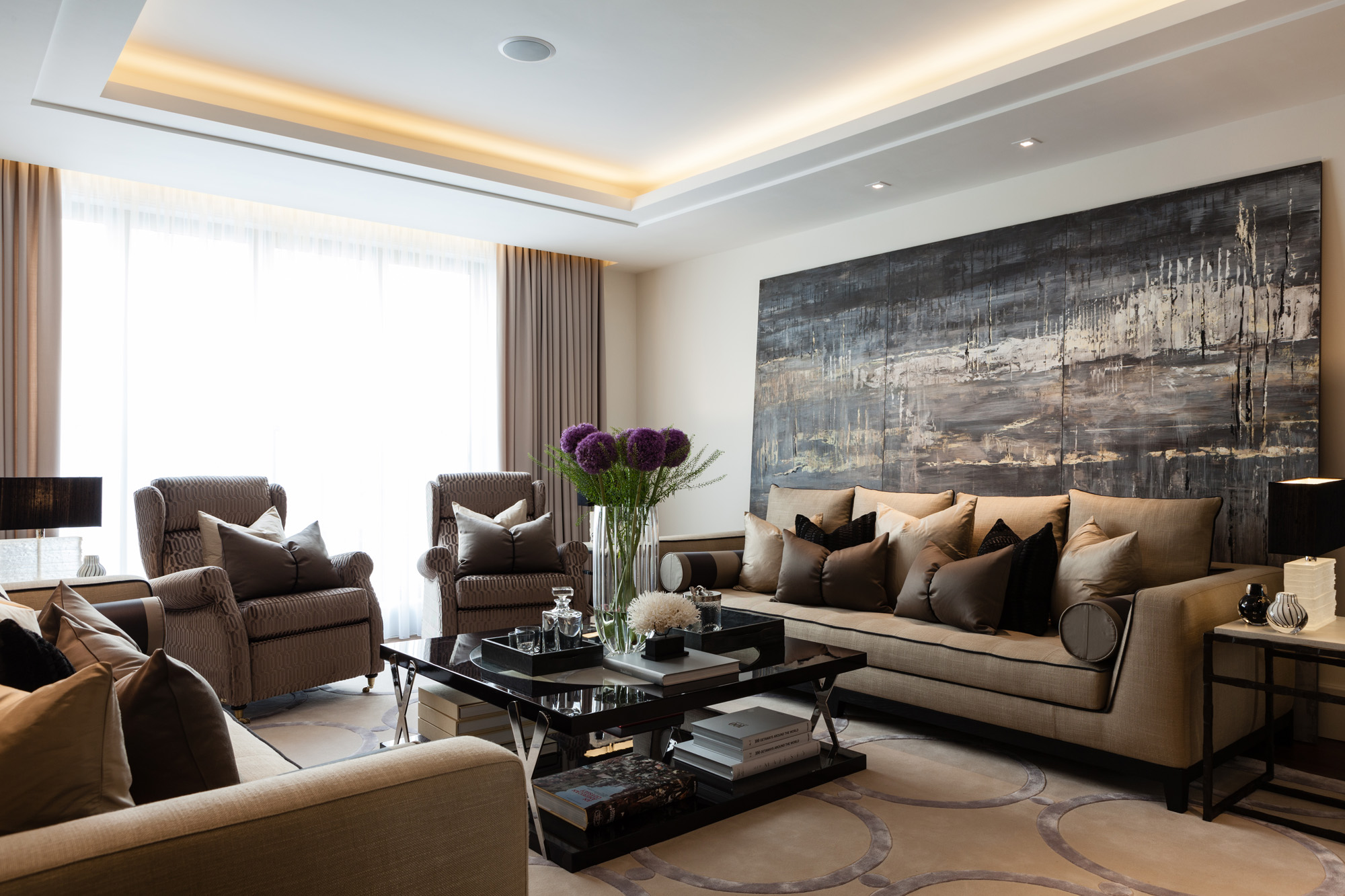 Katz Designed A Warm Functional Family Home With E For Formal Entertainment And Kid Zone In The Heart Of Belgravia